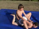 SUNNY AFTERNOON WRESTLING Part 3 gay feet trampling domination